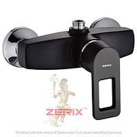 Смеситель для душ кабины с лейкой ZERIX Z2030-6 BLACK