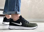 Стильные молодёжные кроссовки темно зелёные с чёрным с белой подошвой 42 и 44 размер, фото 3