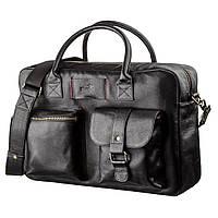 Мужской кожаный большой портфель для ноутбука SHVIGEL 19118 Черный, фото 1