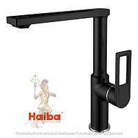 Смеситель для кухни черный HAIBA FOSTER 017 BLACK