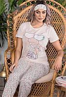 Летний женский костюм футболка и брюки Турция