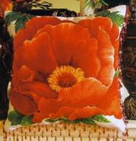Схема  для вышивки мулине и бисером подушки с пионом. Схема для вышивания.Схема цветов от Киевская Русь