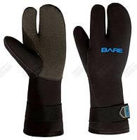 Перчатки Bare трех-палые K-Palm Mitt 7мм Черный XXL