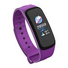 Фитнес браслет, умные смарт часы C1 Plus измерение давления Фиолетовый 7589