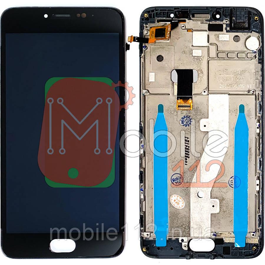 Экран (дисплей)  Meizu M3 Note (L681H) + тачскрин с передней панелью черный