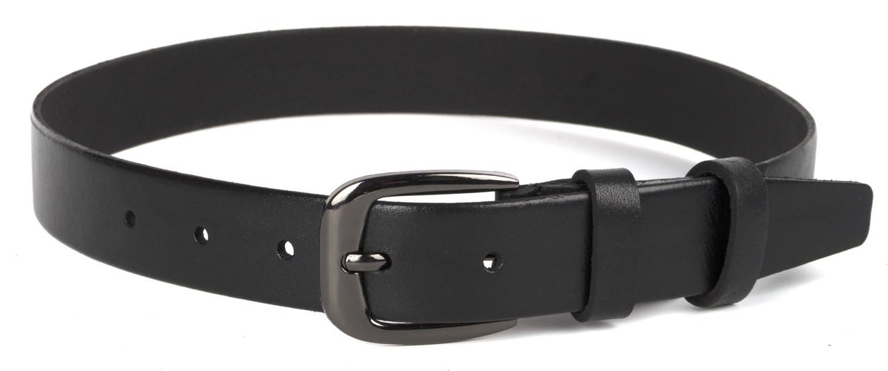 Детский прочный кожаный ремень 3 см (103874) черный
