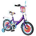 """Дитячий велосипед двоколісний Tilly Fluffy 14"""" (фіолетовий колір) зі страхувальними колесами, фото 4"""
