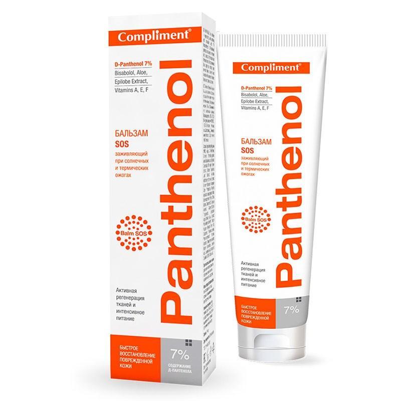 Бальзам Sos заживляющий при солнечных и термических ожогах Panthenol 7% Compliment 75 мл.