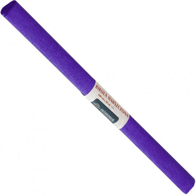 Бумага креповая, рулонная, 200х50 см, цвет фиолетовый