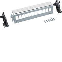 Патч-панель 12-кратная под модули типа Keystone, с держателями