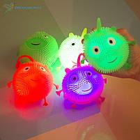 Антистресс мордашки Е-ёжики светящиеся, фото 2