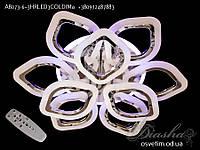 Потолочная люстра с диммером и LED подсветкой, цвет хром, 120W&A8073/6+3HR LED 3color dimmer