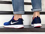 Чоловічі кросівки Nike ZOOM (синьо-білі) 9244, фото 3