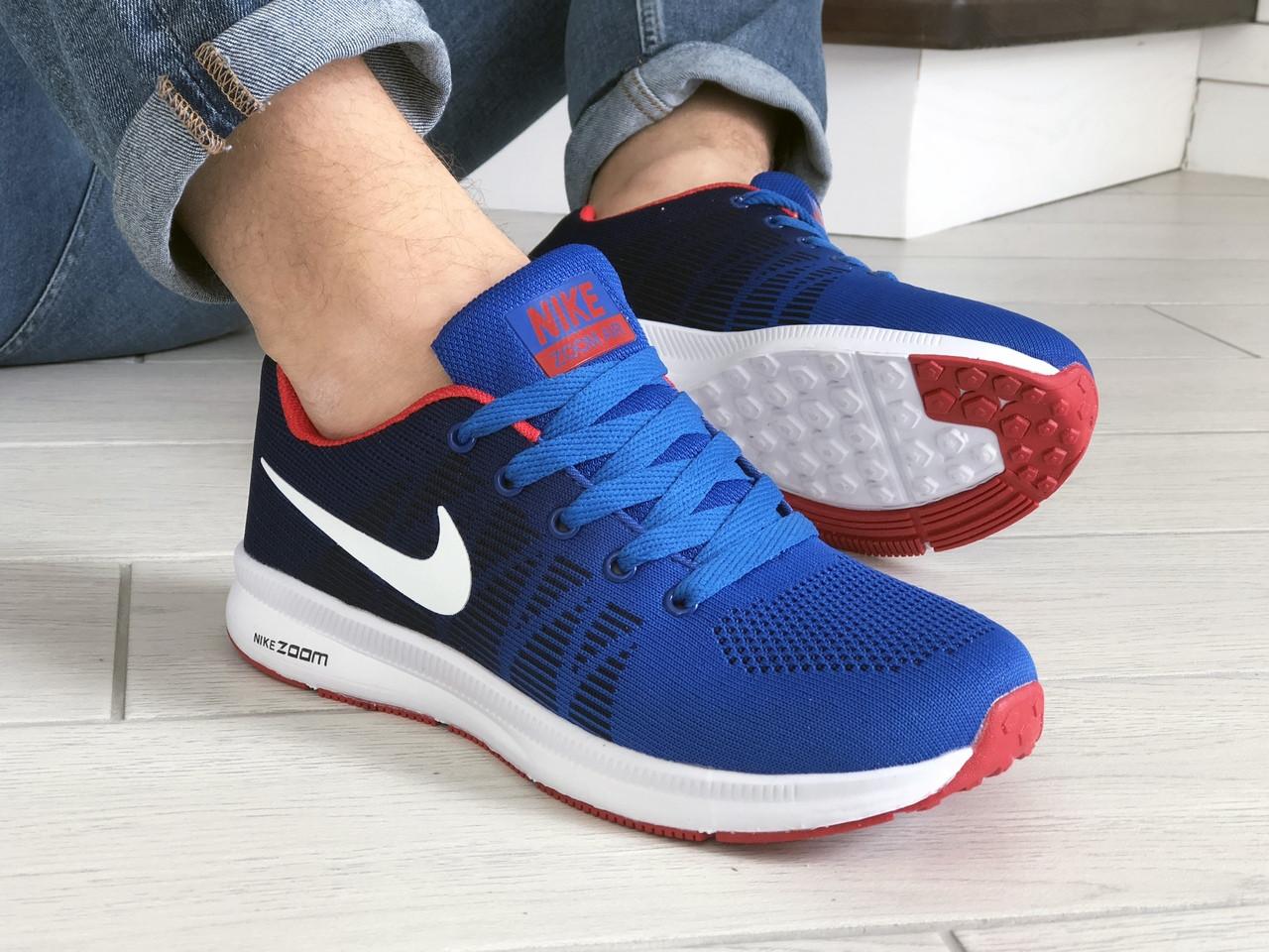 Чоловічі кросівки Nike ZOOM (синьо-білі) 9244