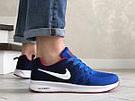 Чоловічі кросівки Nike ZOOM (синьо-білі) 9244, фото 5