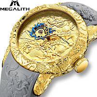 Часы мужские механические MegaLith 8041M, цвет золото с серым ( код: IBW315YS ), фото 1