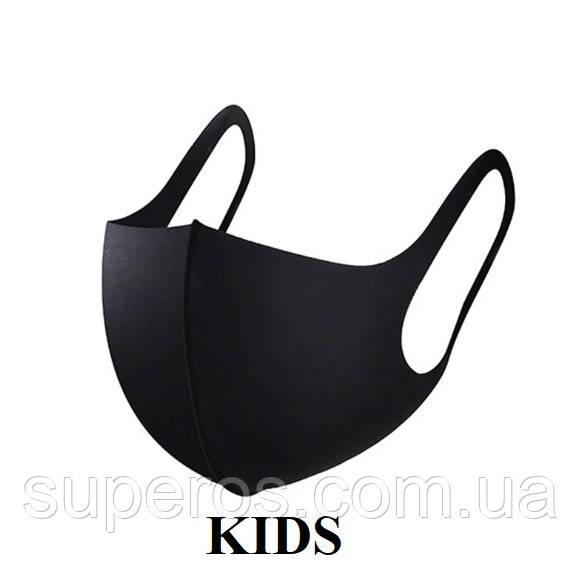Маска питта защитная Pitta Mask детская (черная)