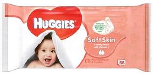 Huggies влажные салфетки детские Soft Skin 56шт