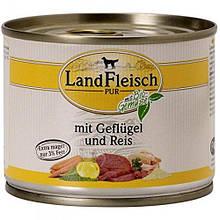 Консервы для собак LandFleisch с нежирным мясом птицы, рисом и свежими овощами