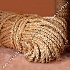 Канат сизалевый 6 мм х 100 м | Веревка сизалевая для когтеточки ➤ дряпки ➤ котов | Мотузка сизальова Україна