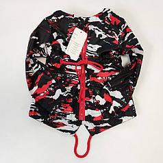 Детская куртка ветровка для мальчика красная 5-6 лет