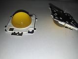 Світлодіод 20w з лінзою, світлодіодна матриця 20w 30-36V Теплий білий, фото 4