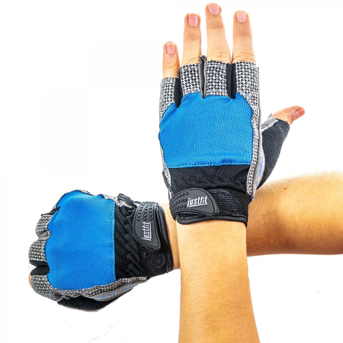 Перчатки для фитнеса сетка JF-S3 Blue