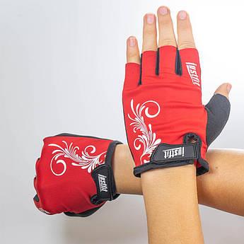 Перчатки для фитнеса BoyBo JF-L1(лайкра)красн,р. M, SF8-94-3