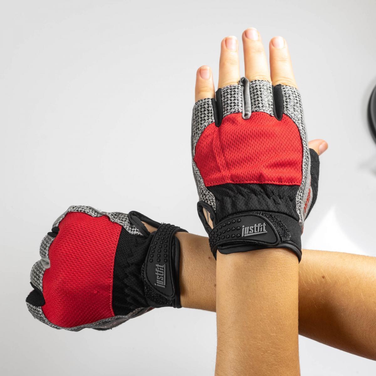 Перчатки для фитнеса сетка JF-S3 Red