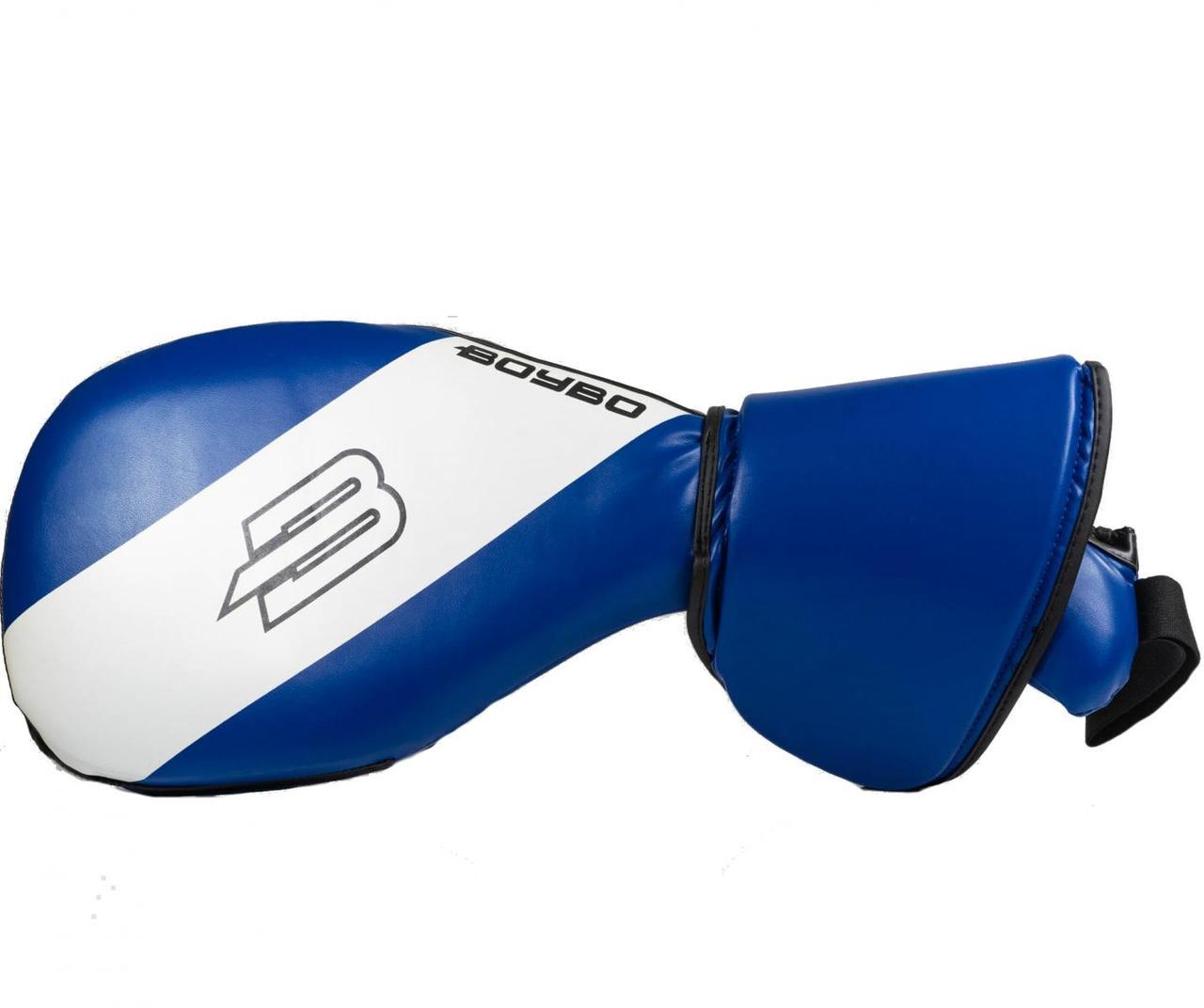 Лапа-ракетка BoyBo двойная с защитой кисти синяя LR-731-4