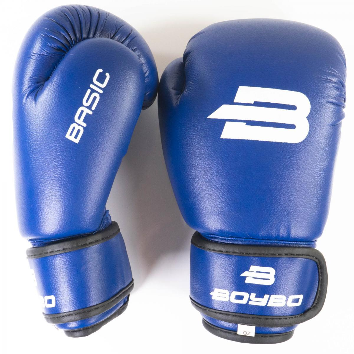 Перчатки бокс. BoyBo Basic к/з 10 OZ син. SF1-44-10