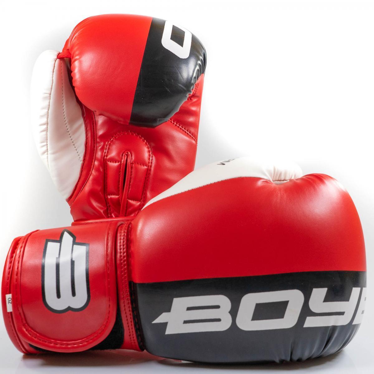 Перчатки бокс. BoyBo Speed Arm к/з 10 OZ красн. SF4-43-10