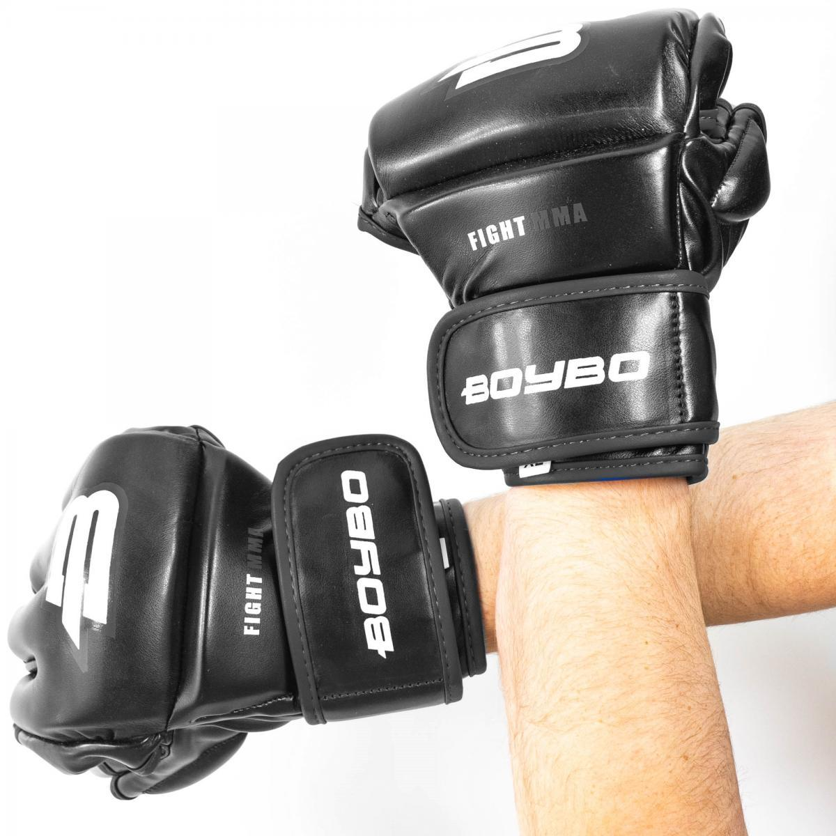 Перчатки ММА BoyBo Challenger Flex черные L SF12-75-4