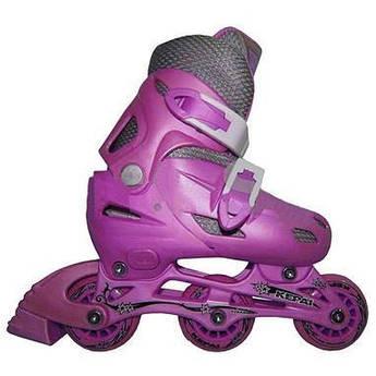 Роликовые коньки KEPAI Розовый (колеса ПВХ,подш 608Z, настраив.разм S/30-33) SS-CHIN-STAR-9 30-33 роз (Роликовые коньки KEPAI Розовый (колеса ПВХ,подш