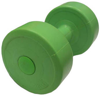 Гантель пластик EVROTOP 2кг (1 шт) зеленая