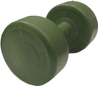 Гантель пластик EVROTOP 3,5 кг (1шт), темно-зеленая