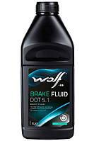 Тормозная жидкость DOT 5.1 WOLF BRAKE FLUID 1L