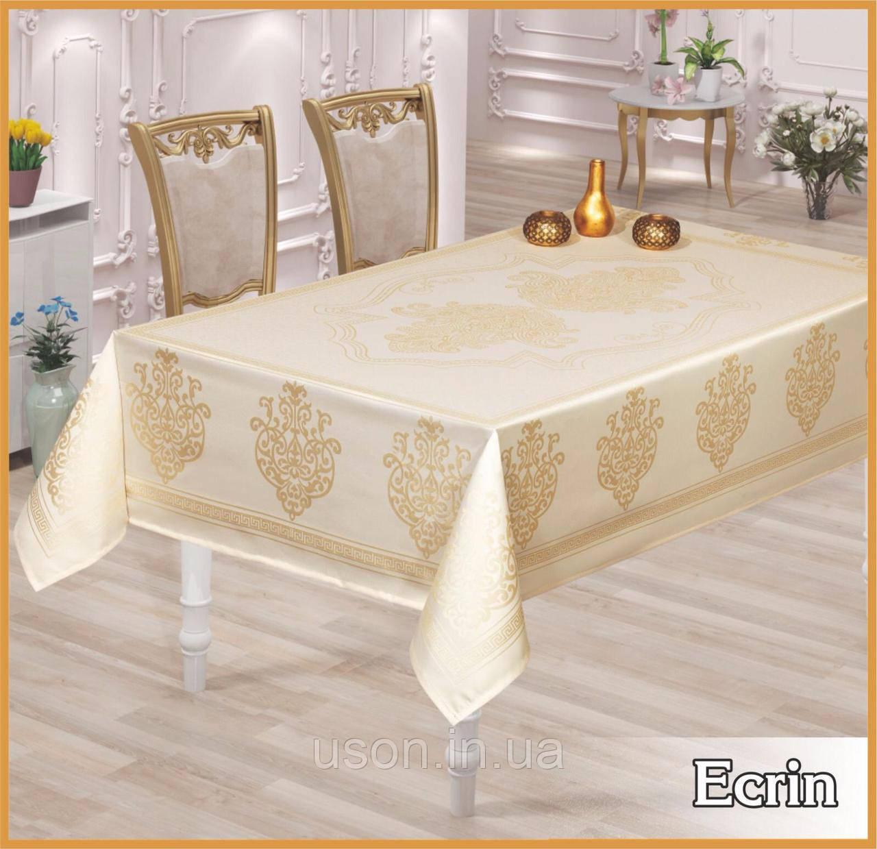 Скатерть тефлоновая прямоугольная MAISON ROYALE Ecrin 160*220  цвет белый