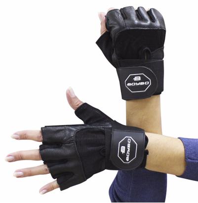 Перчатки для фитнеса BoyBo X-ENERGY (нат.кожа),черн