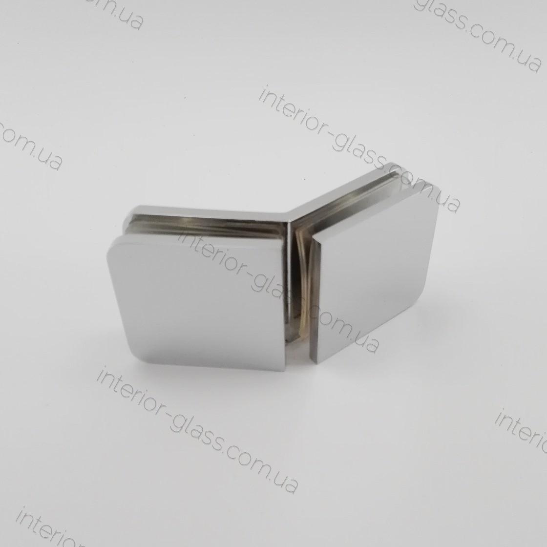 Соединитель стекло-стекло под углом 135° HDL-726 CP полированный хром