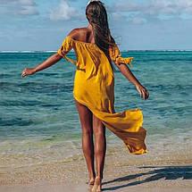 Пляжная туника широкая с мягкой резинкой на горловине,3 цвета. Р-р.универ. Кок 7071К, фото 3