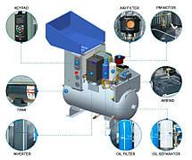 Компресор SCR 20 2PM (15 кВт, 2.4 м3/хв)  ресивер, частотник, двигуном на постійних магнітах РМ, фото 2