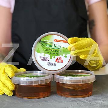 Сахарная паста Danins для депиляции в домашних условиях мануальная Ultra Hard (ультра твердая), 200 + 50 г