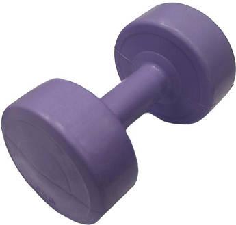 Гантель пластик EVROTOP 3кг (1шт) фиолет