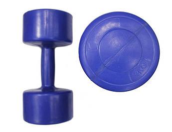 Гантель пластик EVROTOP 4кг (1шт), тем-синяя
