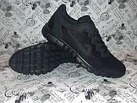 Весенние мужские кроссовки в стиле NIKE 3.0 Black черные