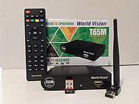 Цифровой Т2 тюнер WorldVision T65М + Интернет+Youtube+AC3+WiFi адаптер