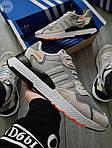 Чоловічі кросівки Adidas Nite Jogger (чорно-помаранчеві) 358PL, фото 6