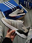 Чоловічі кросівки Adidas Nite Jogger (чорно-помаранчеві) 358PL, фото 4