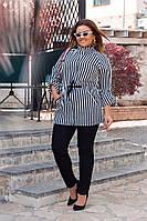 Костюм брючный женский батал, брюки+кардиган р.48-50,52-54,56-58 код 055Л